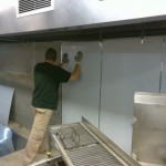 stainless wall installation